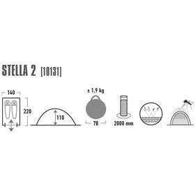 High Peak Stella 2 Teltta, phantom/green